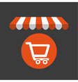 cart shopping vector image