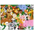 Cartoon animals background vector image