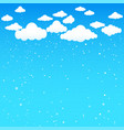cartoon clouds and falling little snow vector image vector image