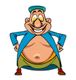 cartoon funny character bellied man Uzbek standing vector image vector image