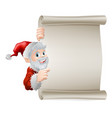 cartoon santa christmas scroll vector image vector image
