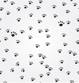 Cat Paw Prints seamless background vector image