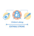 children allergy concept icon kids health care vector image vector image