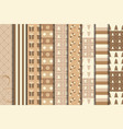 christmas craft seamless patterns set vector image