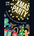 christmas party flyer winter holiday card design vector image vector image