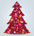 christmas tree new year decoration vector image vector image