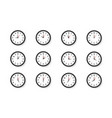 clock isolated on white background vector image