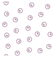 Clock Seamless Flat Pattern vector image