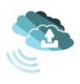 cloud connection icon vector image vector image
