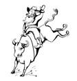 cowboy santa on rodeowestern rodeo bull riding vector image vector image