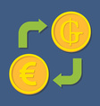 Currency exchange Euro and Guarani vector image vector image