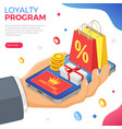 customer loyalty programs banner vector image vector image