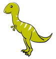 cute allosaurus on white background vector image vector image