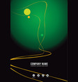 dark and green brochure cover concept vector image vector image