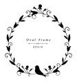 decorative frame in vintage style with floral vector image vector image