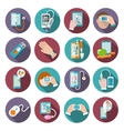 Digital health icons set vector image vector image