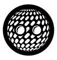 disco button icon simple black style vector image vector image