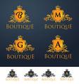 Elegant Luxury Monogram Logo or Badge vector image
