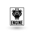 engine logo vector image