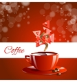 Espresso coffe red coffee vector image
