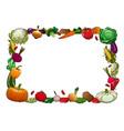 farm ripe vegetables frame vector image vector image