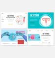 flat in vitro fertilization websites set vector image vector image