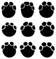 footprints elephants vector image