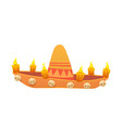 for the day of the dead sombrero vector image vector image