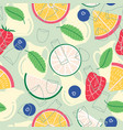 fruit lemonade with pitchers and cups seamless vector image