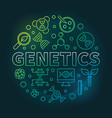 genetics circular colored outline vector image