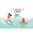 hand drawn abstract summer time funny vector image