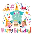 Happy Birthday 14 vector image vector image