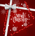 Holiday Gift with Christmas decorations vector image vector image