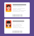 Id cards with the cute persons vector image