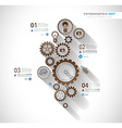 Infographic timeline with Gear mechanic vector image vector image