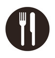 knife and fork sign vector image vector image