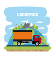 logistics and delivery concept vector image vector image
