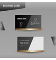 modern design business card template vector image vector image