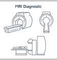 MRI diagnostic icons vector image vector image