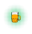 Mug of beer icon comics style vector image vector image
