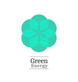 nature green logo vector image vector image