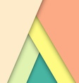 Pastel material design with shadow vector image vector image