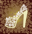 pattern of fashion Footwear vector image vector image