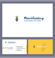 pen logo design with tagline front and back vector image