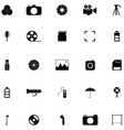 photographic equipment icon set vector image vector image