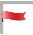 realistic ribbon or banner on white background vector image vector image
