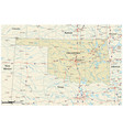 road map us state oklahoma vector image vector image