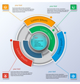 Round business infographics vector image vector image