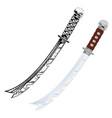 samurai sword 1 vector image vector image