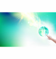 science concept image human hand pointing on vector image vector image